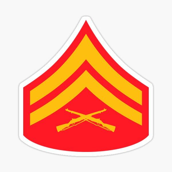 USMC INSIGNIA - CORPORAL Sticker