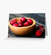 A bowl o cherries. Greeting Card