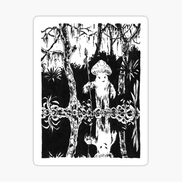 Wilder Pilz-Kerl Sticker