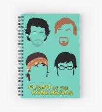 Cuaderno de espiral Vuelo de los Conchords: Silly-ettes