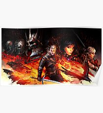 Witcher 3 Wild Hunt Characters Poster