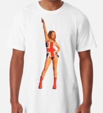 Ginger Spice in Union Jack Long T-Shirt