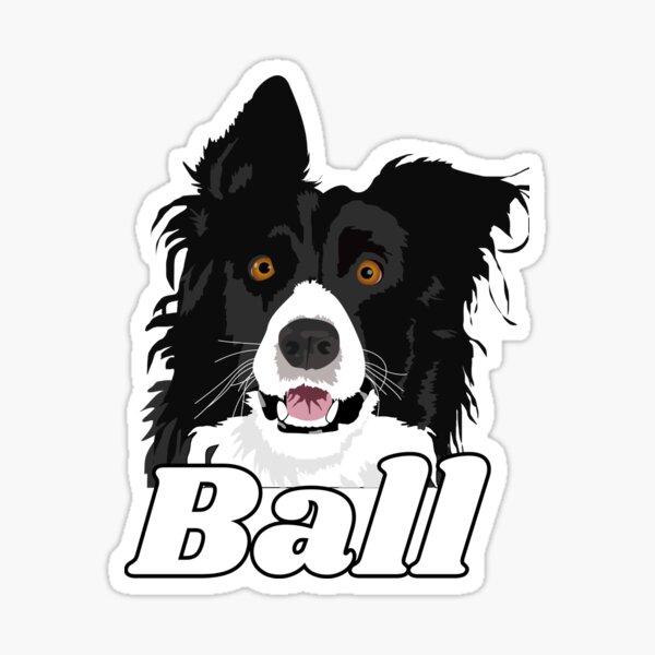 Border Collie Ball Sticker