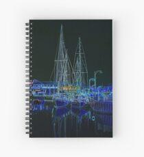 """""""Midnight Mooring"""" Spiral Notebook"""