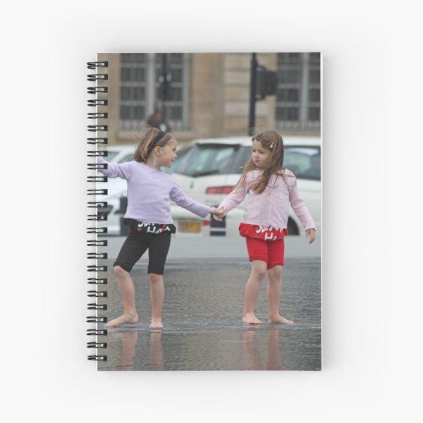 Twin Girls Spiral Notebook