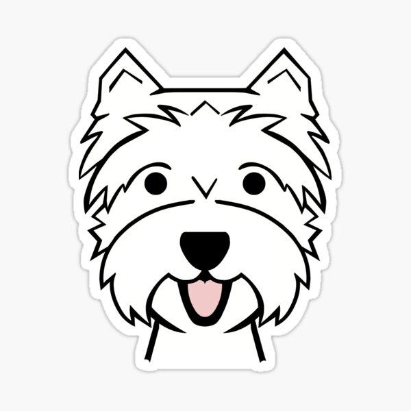 West Highland Terrier - Westies - Westie dogs - red background Westie dog breed Sticker