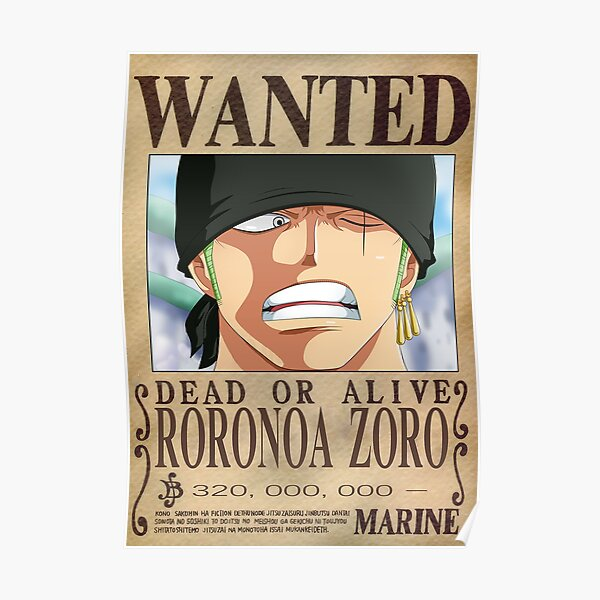 One Piece - Zorro - Wanted T-Shirt Poster