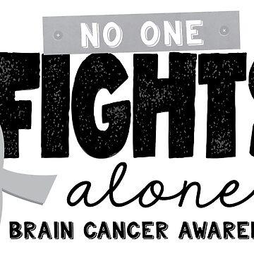 Niemand kämpft allein - Hirntumor-Bewusstsein von graphicloveshop
