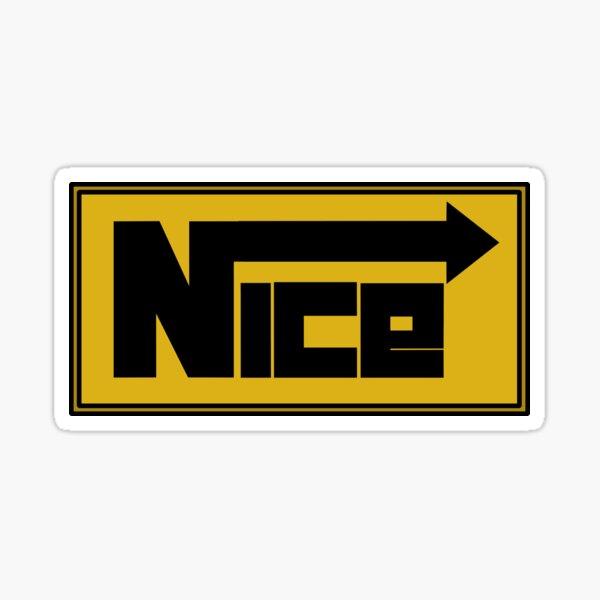 NICE. Sticker