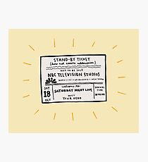 SNL Ticket Photographic Print