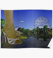Basses sprouting after rain  Poster