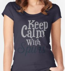 Keep Calm with Spurs Women's Fitted Scoop T-Shirt