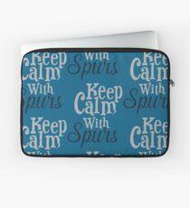 Keep Calm with Spurs Laptop Sleeve