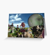 Victrola hillside  Greeting Card