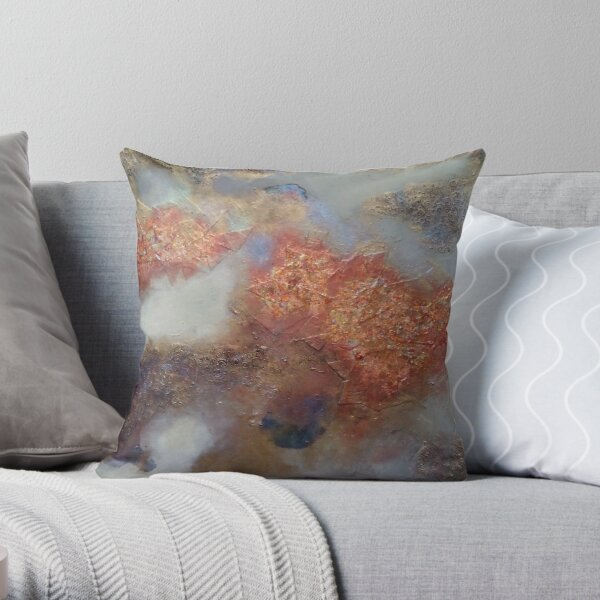 Copper and Opal cloud Throw Pillow