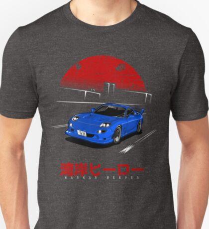 Wangan Heroes FD3S - Blue T-Shirt