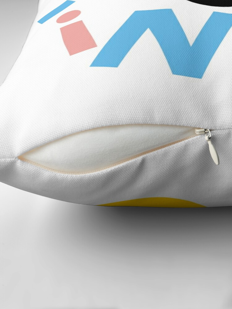 Alternate view of have a giggle Throw Pillow