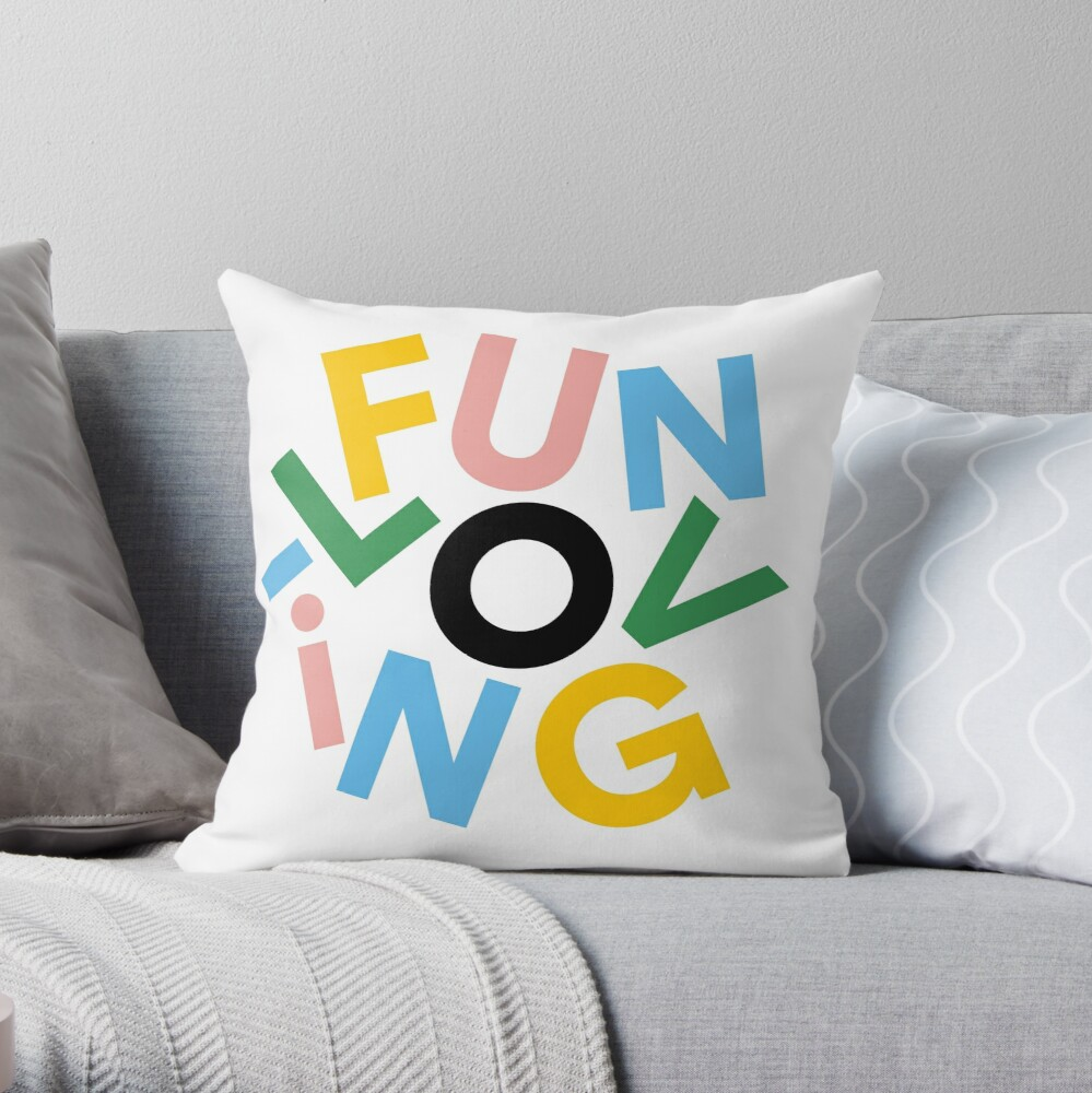 have a giggle Throw Pillow