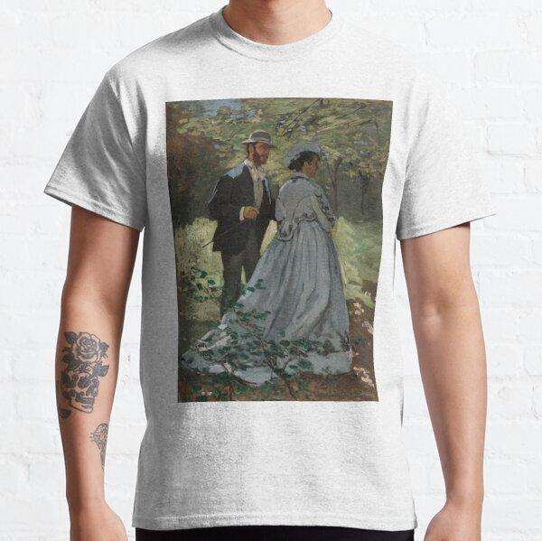 "Claude Monet, Bazille and Camille (Study for ""Déjeuner sur l'Herbe""), 1865 Painting Classic T-Shirt"