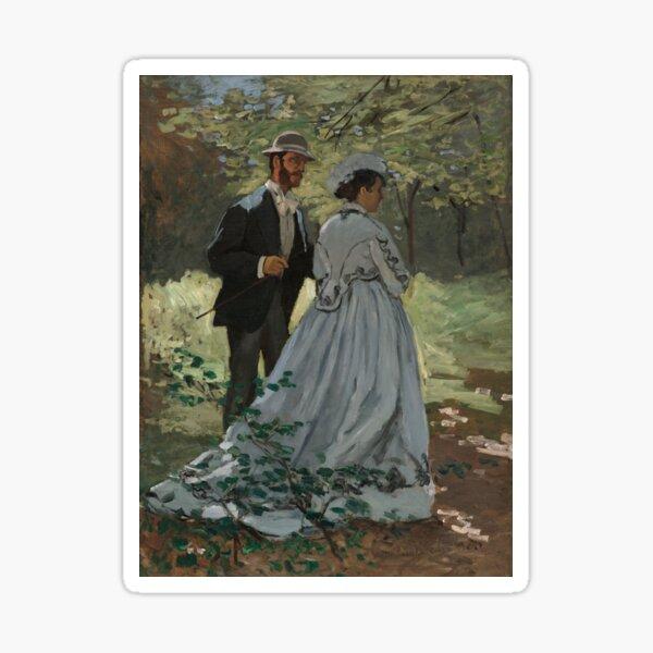 "Claude Monet, Bazille and Camille (Study for ""Déjeuner sur l'Herbe""), 1865 Painting Sticker"