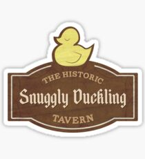 The Snuggly Duckling Sticker