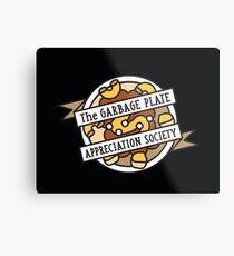 Plate Appreciation Society Metalldruck