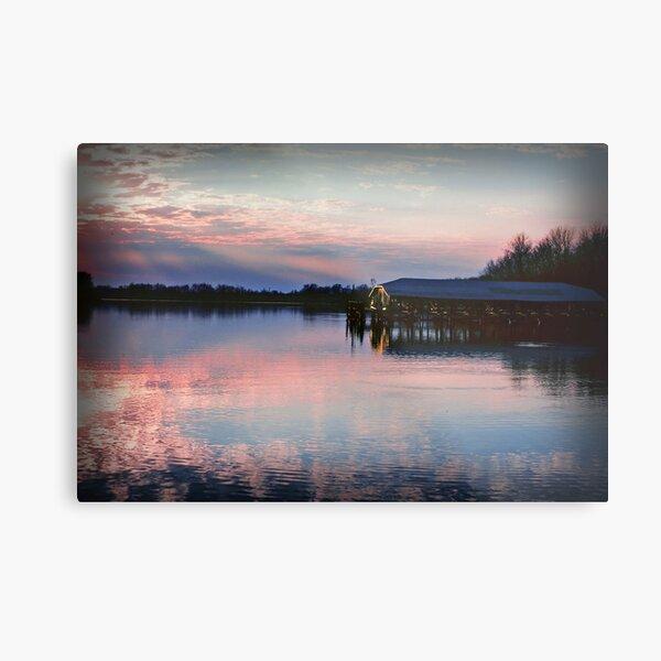 Sunset on the Lake Metal Print