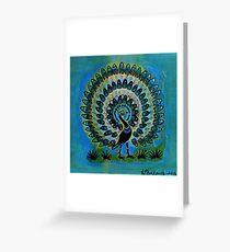 Prancing Peacock Greeting Card