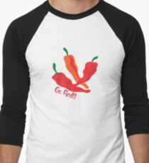 Go Red!!! Chile Peppers Men's Baseball ¾ T-Shirt