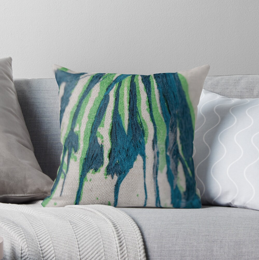 Of lines and texture I Throw Pillow