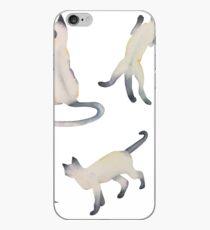 Vinilo o funda para iPhone Gatos siameses