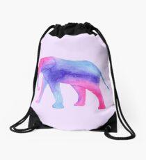 Galaxy Elephant Drawstring Bag