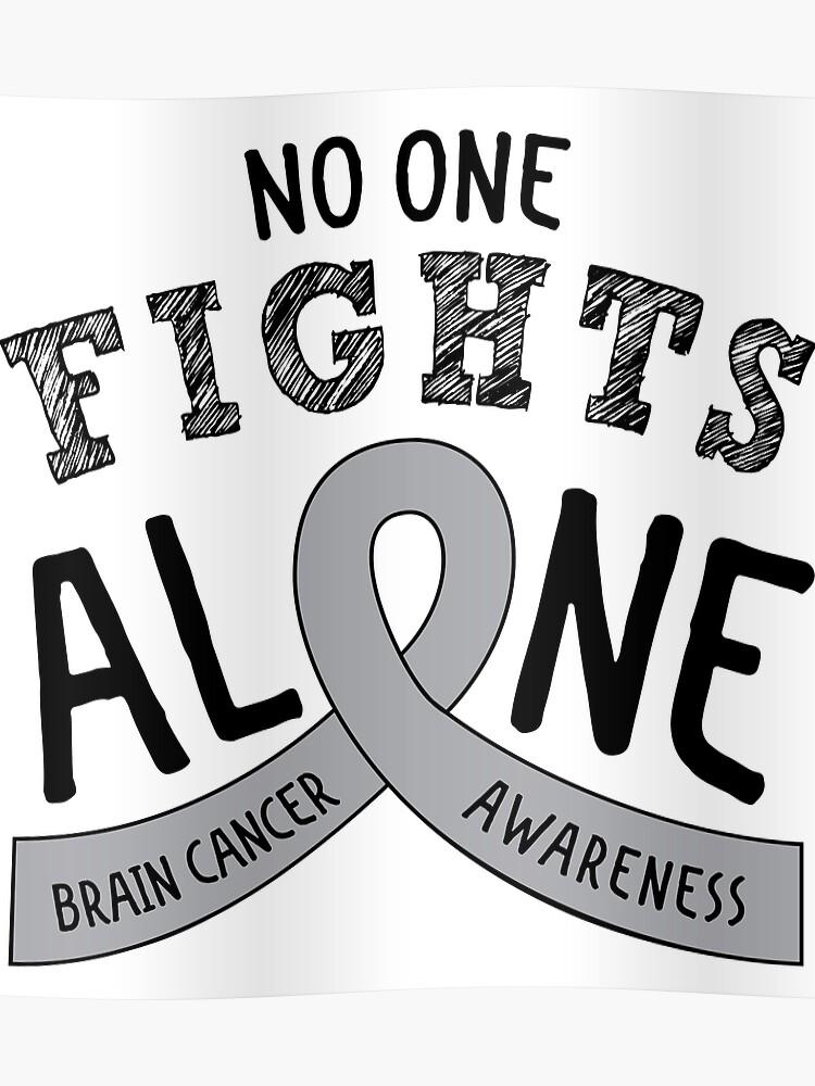 11e8ca6794e Brain Cancer Awareness Ribbon | Poster