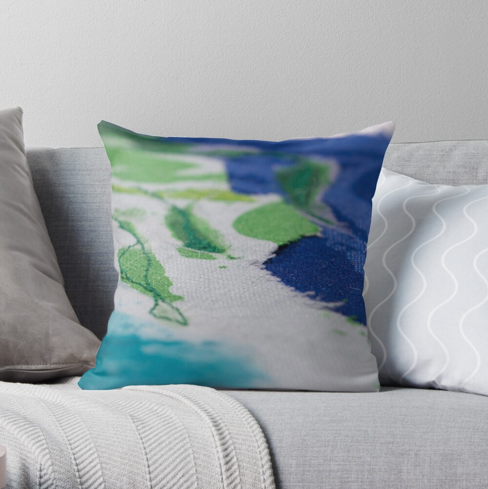 Of lines and texture Throw Pillow