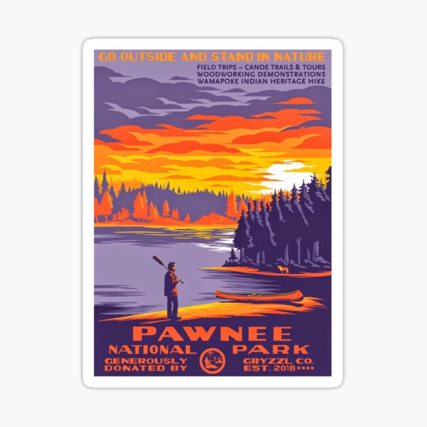 Pawnee National Park Poster Sticker