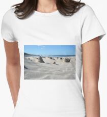Sand sculptures Women's Fitted T-Shirt