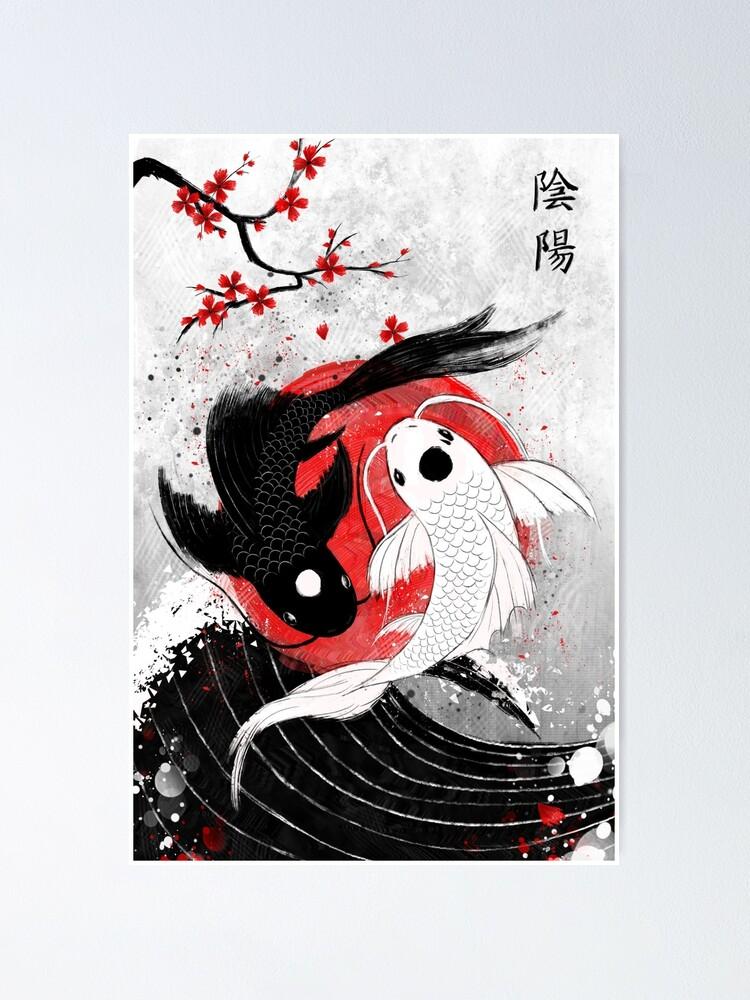 Vista alternativa de Póster Pescado Koi - Yin Yang