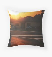summer in suburbia Throw Pillow