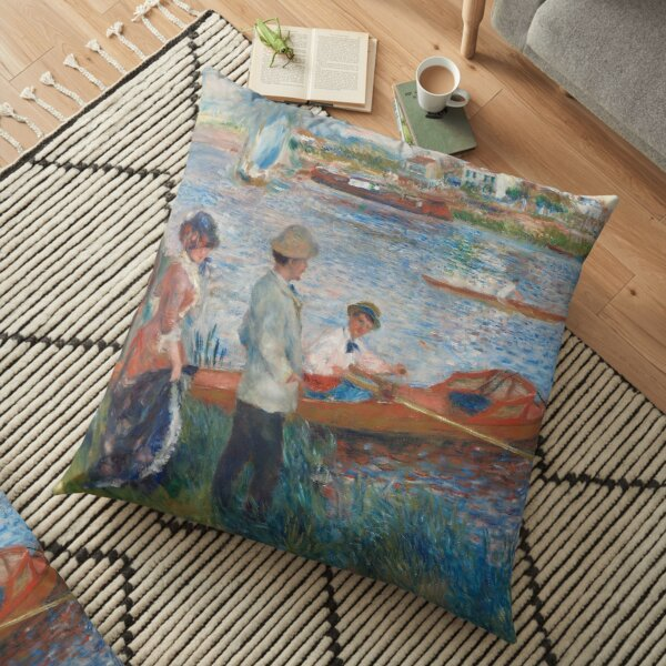 Auguste Renoir, Oarsmen at Chatou, 1879 Painting Floor Pillow