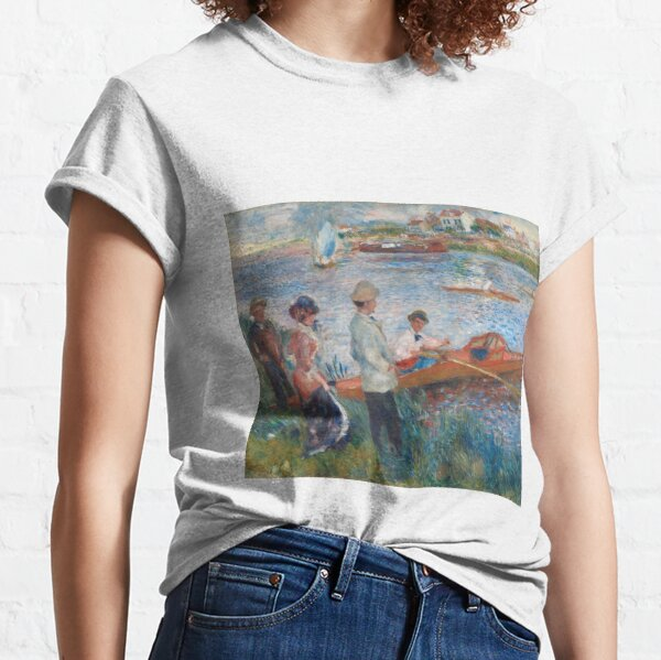 Auguste Renoir, Oarsmen at Chatou, 1879 Painting Classic T-Shirt