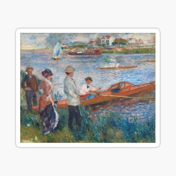 Auguste Renoir, Oarsmen at Chatou, 1879 Painting Sticker