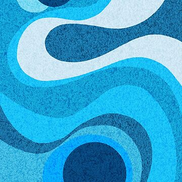 Ocean Blue Shag: A Wall Rug Design by BunnyThePainter