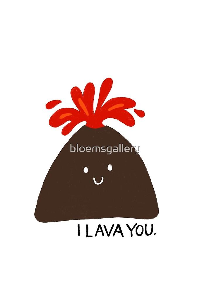 «'I Lava You' linda ilustración de volcán» de bloemsgallery