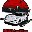 Wangan Heroes FD3S - White - Sticker by BBsOriginal