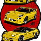 Wangan Heroes - Yellow - Sticker by BBsOriginal