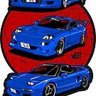 Wangan Heroes - Blue - Sticker by BBsOriginal