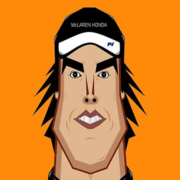 Alonso Caricature by rubiohiphop