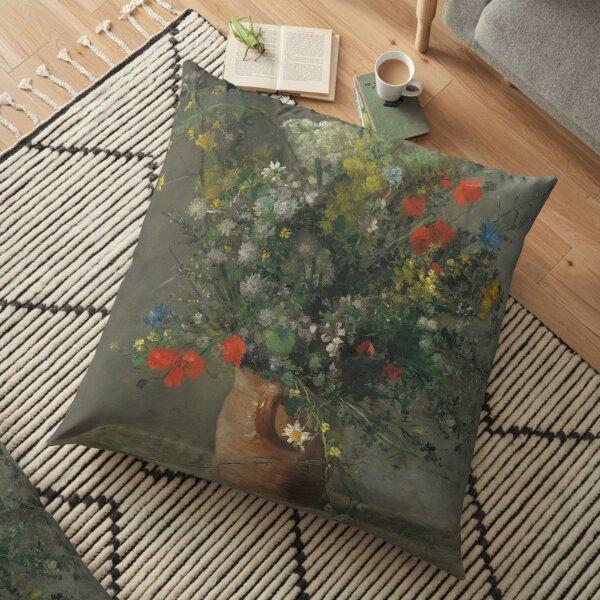 Auguste Renoir, Flowers in a Vase, 1866 Painting Floor Pillow