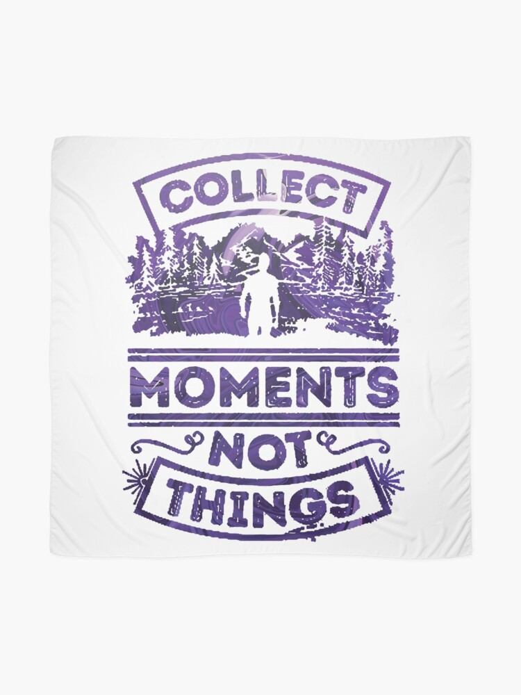 Alternate view of Collect Moments not Things blue and white Scarf