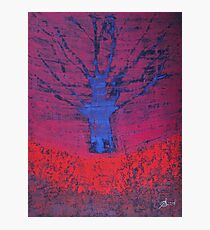 Disappearing Tree original painting Photographic Print